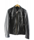 Rags McGREGOR(ラグスマックレガー)の古着「レザージャケット」|ブラック