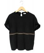 BRUNELLO CUCINELLI(ブルネロクチネリ)の古着「ラインデザインS/Sカットソー」|グレー