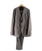 LARDINI(ラルディーニ)の古着「ウール/コットンストライプ3ピース2Bセットアップスーツ」 グレー