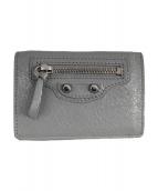 BALENCIAGA(バレンシアガ)の古着「コンパクト3つ折り財布」 グレー