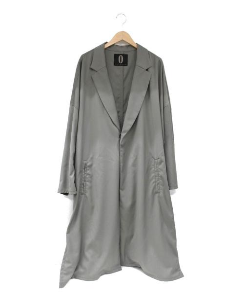 onffo(オノフ)OnffO (オノフ) スナップ1Bチェスターコート グレー サイズ:Sの古着・服飾アイテム