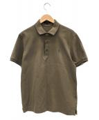 MACKINTOSH(マッキントッシュ)の古着「チェック切替ポロシャツ」|ベージュ
