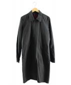 NO ID.(ノーアイディー)の古着「CNクロスステンカラーコート」|ブラック