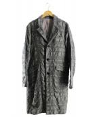 NO ID.(ノーアイディー)の古着「ウールコットン縮絨チェスターコート」|グレー
