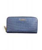 FENDI(フェンディ)の古着「ラウンドジップウォレット」|ブルー