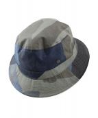 NIGEL CABOURN(ナイジェルケーボン)の古着「カモ柄バケットハット」|ブルー×グレー