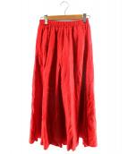 URBAN RESEARCH(アーバンリサーチ)の古着「リネンフレアマキシスカート」 レッド