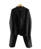 COMME des GARCONS HOMME(コムデギャルソンオム)の古着「ウールセットアップ」|ブラック