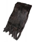 SANKYO(サンキョウ)の古着「スカンブラックミンクファーティペット」|ブラウン
