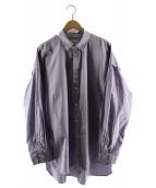 TOIRONIER(トワロニエ)の古着「ダブルヨークシャツ」|パープル
