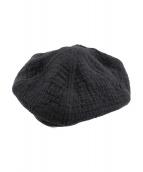 Porter Classic(ポータークラシック)の古着「刺し子ベレー帽」|ブラック