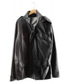 Marc by Marc Jacobs(マーク・バイ・マーク・ジェイコブズ)の古着「ラムレザージャケット」|グレー