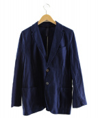 HARRIS WHARF LONDON(ハリスワーフロンドン)の古着「ジャージージャケット」 ネイビー