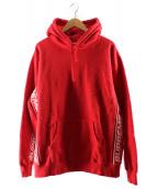 Supreme(シュプリーム)の古着「テキストリブフーデッドスウェットシャツ」|レッド