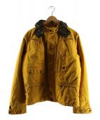 C.P COMPANY(シーピーカンパニ)の古着「ゴーグルフードコーティング中綿ジャケット」|イエロー