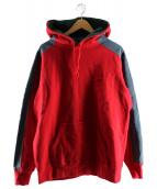 Supreme(シュプリーム)の古着「パネルフーデッドスウェットシャツ」|レッド