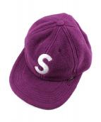 Supreme(シュプリーム)の古着「ポーラーテックSロゴパネルキャップ」|パープル
