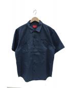 Supreme(シュプリーム)の古着「バックフォトプリントワークシャツ」|ブルー