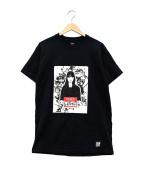 BEDWIN &THE HEARTBREAKERS×KYNE(ベドウィンアンドザハートブレイカー×キネ)の古着「プリントTシャツ」|ブラック