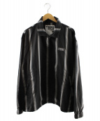 TIGHTBOOTH PRODUCTION(タイトブースプロダクション)の古着「チェックフルジップシャツ」|ブラック