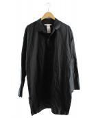 BARBARA ALAN(バーバラ アラン)の古着「カットオフデザインシャツ」|ブラック