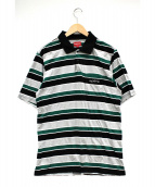 Supreme(シュプリーム)の古着「Classic Logo Stripe Polo」|グリーン×ブラック