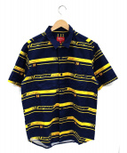 Supreme(シュプリーム)の古着「Striped Racing Work Shirt」|ネイビー