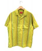 Supreme(シュプリーム)の古着「Vertical Stripe Shirt」|イエロー