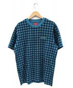 Supreme(シュプリーム)の古着「チェックプリントTシャツ」|ブルー