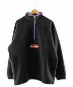 BUTTERGOODS(バターグッズ)の古着「ハーフジップスウェット」|ブラック×パープル