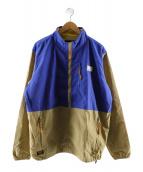 BUTTERGOODS(バターグッズ)の古着「シップアップブルゾン」|ブルー×ベージュ