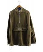 BUTTERGOODS(バターグッズ)の古着「ハーフジップジャケット」|オリーブ