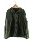 TENDERLOIN(テンダーロイン)の古着「オープンカラーシャツ」|グリーン