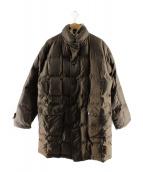 Aquascutum(アクアスキュータム)の古着「ラビットファー装飾ダウンコート」|ブラウン