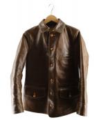 FREEWHEELERS(フリーホイーラーズ)の古着「ホースハイドレザージャケット」|ブラウン