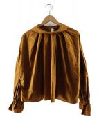 ENFOLD(エンフォルド)の古着「ヴィクトリアンブラウス」|ブラウン