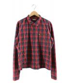 kolor/BEACON(カラービーコン)の古着「ジップアップブルゾン」|レッド