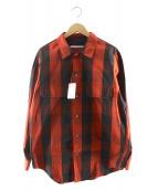 JOURNAL STANDARD TRISECT(ジャーナルスタンダードトライセクト)の古着「ビッグパターンレッドオーバーシャツ」|レッド×ブラック