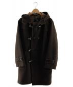 BURBERRY BLACK LABEL(バーバリーブラックレーベル)の古着「メルトンダッフルコート」|ブラウン