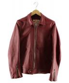 ADDICT CLOTHES(アディクトクローズ)の古着「シングルシープスキンジャケット」|レッド