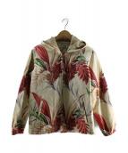 Sun Surf(サンサーフ)の古着「フーデッドジャケット」 レッド×ベージュ