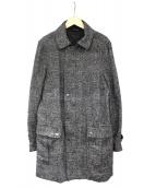 rag&bone(ラグアンドボーン)の古着「グレンチェックステンカラーコート」|グレー
