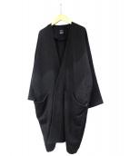 LIMI feu(リミフゥ)の古着「スナップボタンウールノーカラーコート」|グレー