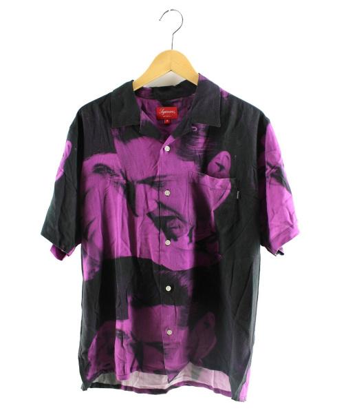 Supreme(シュプリーム)Supreme (シュプリーム) Bela Lugosi Rayon S/S Shirt パープル サイズ:Mの古着・服飾アイテム