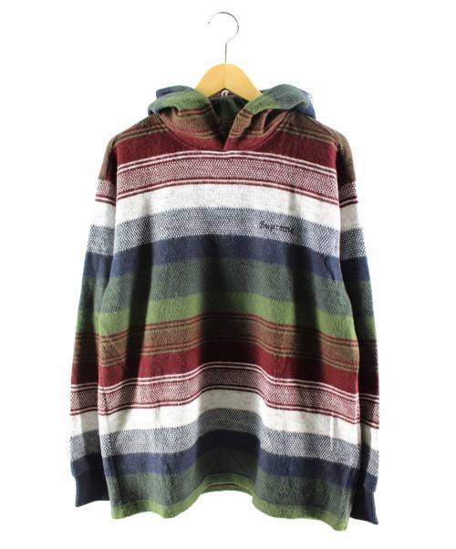 Supreme(シュプリーム)Supreme (シュプリーム) Knit Stripe Hooded L/S Top マルチカラー サイズ:Mの古着・服飾アイテム
