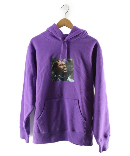 Supreme(シュプリーム)Supreme (シュプリーム) Marvin Gaye Hooded Sweatshirt パープル サイズ:Mの古着・服飾アイテム