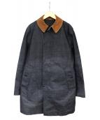 nanamica(ナナミカ)の古着「コーデュロイカラーライナー付ステンカラーコート」|ネイビー