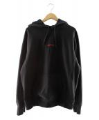 Supreme(シュプリーム)の古着「トレードマーク フーデッドスウェットシャツ」|ブラック
