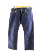 MOMOTARO JEANS(モモタロー ジーンズ)の古着「14.7ozセルヴィッチデニムパンツ」|インディゴ