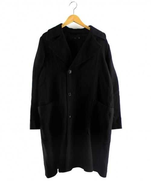 KNOTT(ノット)KNOTT (ノット) ウールダブルフェイストレンチコート ブラック サイズ:0の古着・服飾アイテム